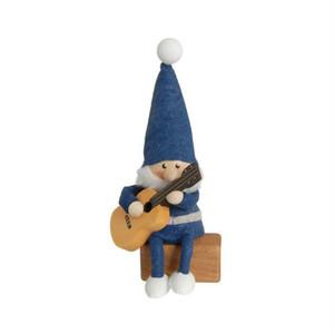 ギターを持った青い服のサンタ/NORDIKA nisse/デンマーク