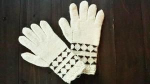 BIG HUG  手編み手袋