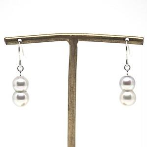 【希少!!】あこや本真珠の双子(ツインパール)のピアスO