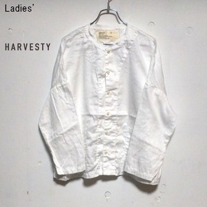 《再入荷》 HARVESTY アトリエシャツ Atelier Shirt A41601 (WHITE) 【Ladies'】