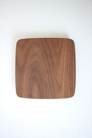 松下由典|木のトレー正方形(M) ウォルナット材