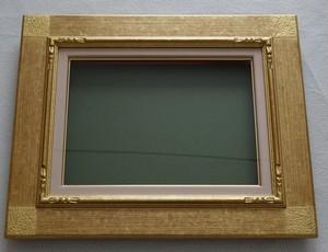 【油彩額縁】平桃角紋 金 F4号(333×242) アクリル仕様