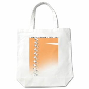 布バッグ PiNMeN(チェイン)オレンジ トートバッグ 白