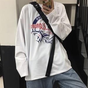 【トップス】春日新作韓国風INSレトロフカプリントゆったり合わせやすいシャツ