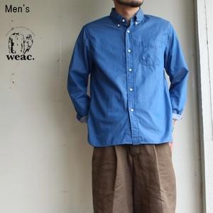 《ラスト1点》weac. ペルヴィアンコットンシャツ BASIC SHIRTS  (LIGHT BLUE)