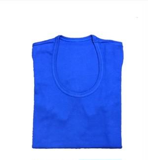 【ロイヤルブルー】UネックTシャツ