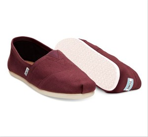 TOMS | RED MAHOGANY CANVAS MEN'S CLASSICS