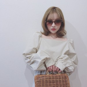 square neck puff sleeve blouse (S19-01062K)