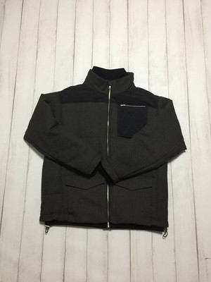 quilted pocket jacket / dark grey