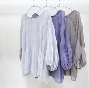 シャーリングブラウス【shirring chiffon blouse】
