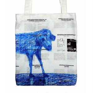 コピー:『雨の日の犬』トートバッグ