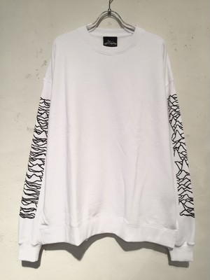 WIDE SILHOUETTE CREW NECK SWEAT(WHITE)