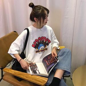 かわいいキャラクタープリントTシャツ