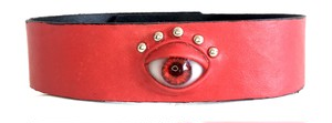 eye choker / red