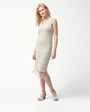 CEDAR POINTELLE DRESS AF/NATURAL