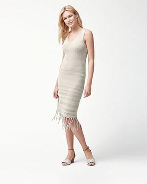 CEDAR POINTELLE DRESS AF/NATURAL