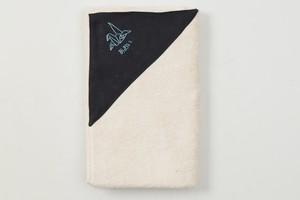 バスタオル 背守り刺繍【折り鶴】