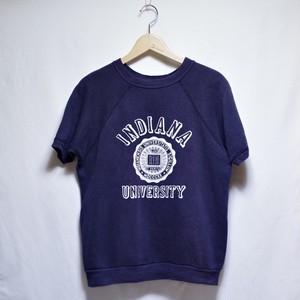 1960s  Short Sleeve Sweat Shirt / S/S カレッジ プリント /  半袖 スウェット ナス紺