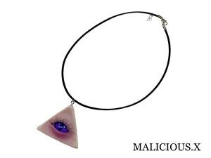 cat eye necklace / purple(skin)