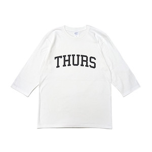 THURSDAY - COLLEGE 1/2 SLEEVE TEE (White)