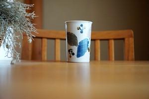砥部焼/フリーカップ(細)/木の葉/森陶房