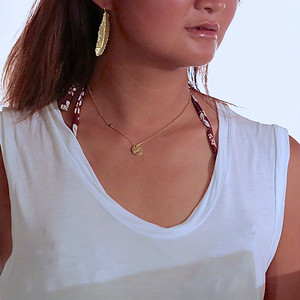 MESSAGE CHARM NECKLACE -ocean-