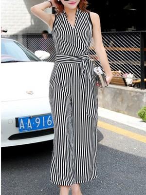 【bottoms】Fashion v Neck Slim Wearing pants