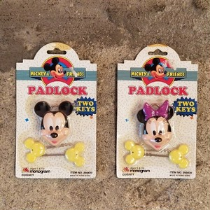 DEADSTOCK MICKEY & MINNIE PADLOCK(南京錠)
