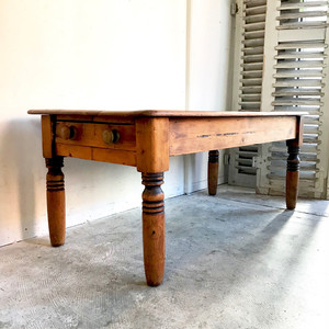 Old Pinewood Living Table 1900's オランダ