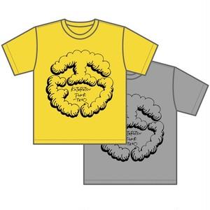 モコモコロゴTシャツ(バナナイエロー&ミックスグレー )