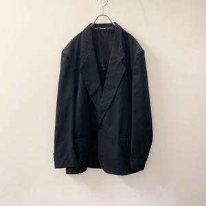 EXPRESSIONS テーラードジャケット ブラック ポリエステル/レーヨン USA製 size 42 メンズ 古着