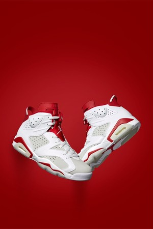 【 NIKE】AIR JORDAN 6 RETRO WHITE/PURE PLATINUM-GYM RED