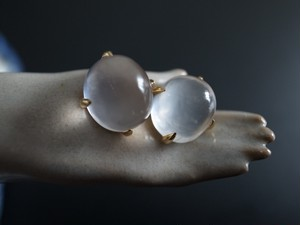 【 Sold out 】Star Rose Quartz ポストピアス