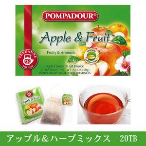 ポンパドール アップル&フルーツミックスハーブティー 20TB POMPADOUR ハーブティー 20袋入