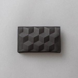 HEXAGON PATTERN CARD CASE  / Color : black
