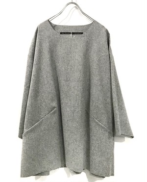 my beautiful land let 断ち切り wool tops  gry