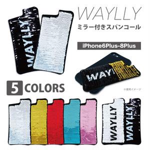 専用ミラー付きスパンコール WAYLLY(ウェイリー) iPhone6/6s/7/8 PLUS 対応!
