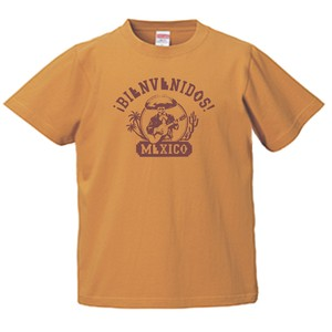 BIENVEBIDOS MEXICO T-SHIRTS PURPLE メキシコへようこそ! スペイン語 キャメル T-シャツ メキシコ