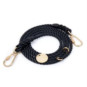 FOUND MY ANIMAL-BLACK ROPE DOG LEASH, ADJUSTABLE(ファウンドマイアニマル・ブラック・ロープ・リーシュ・アジャスタブル)