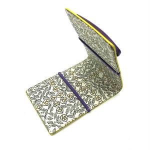 【R/E SIDE×リバティープリント コラボ商品】名刺・カードケース (イエロー×Sleeping Rose)