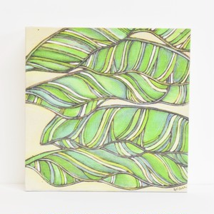 Wood print Art 【Banana Leaf】