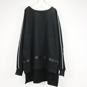 keisukeyoneda drop shoulder line sweat black