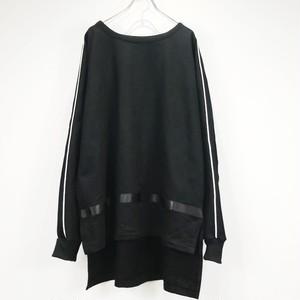 keisukeyoneda drop shoulder line sweat black