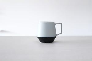 白と黒のメリハリある器 陶芸作家【宮崎雄太 器とデザイン】Mugcup マグカップ(Wht×Blk)