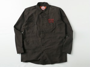 Scapegoat shirt CHOCOLATE/RED