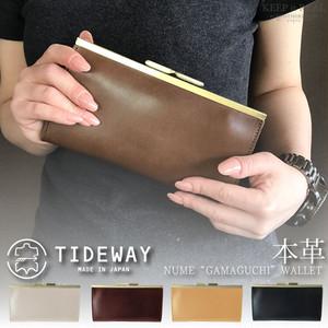 TIDEWAY タイドウェイ 本革 がま口 長財布 ヌメ ガマグチ ウォレット 日本製