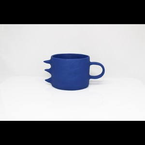 """ポップでアートな器【Kira Ni Ceramics /キラニセラミックス】""""DRAGON"""" Coffee Mug Cup コーヒーマグカップ (BLUE)"""