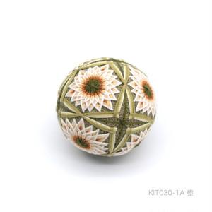 手まり制作キット「四つ葉と菊」(テキストあり)_KIT030-1