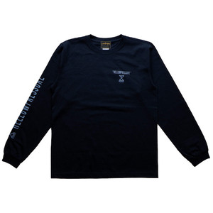 【HELLOWPRESSURE L/S tee】black/charcoal