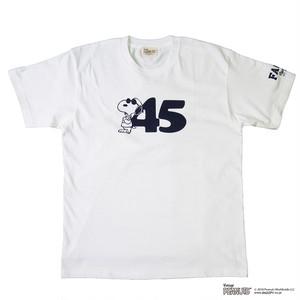 45'S TEE / WHITE × NAVY